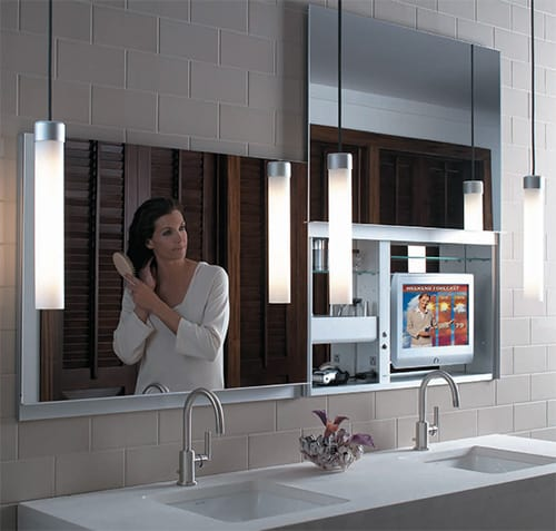 Full Length Hinged Mirror With Cabinet