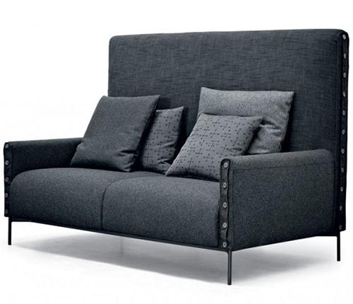 urban chic sofa in gray tacchini 2 Urban Chic Sofa in Gray by Tacchini