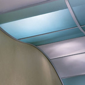 Luminous ceiling infill panels from USG – the high-tech translucent ceiling