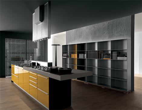 valcucartemvitrum 2 100% recyclable kitchen   Valcucine Artematica Vitrum Yellow Kitchen