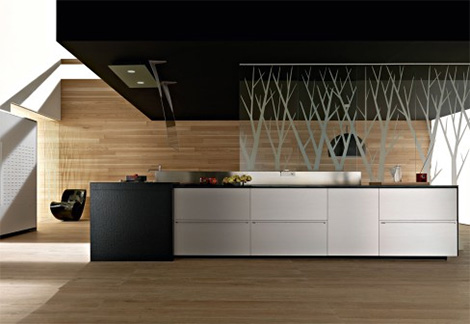 valcucine artematica multiline titanium kitchen Valcucine new Artematica Multiline Titanium Kitchen   a kitchen of tomorrow, today!