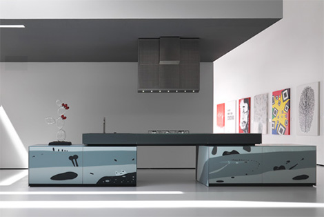 valcucine artematica vitrum arte kitchen Two Most Unusual Modern Kitchens   Valcucine Artematica Vitrum Arte Kitchen and Eggersmann Memfizz Kitchen