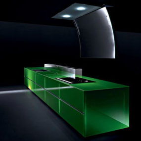 Eco Kitchen – 100% Recyclable Kitchen by Valcucine, gReenaissance utilizing Invitrum