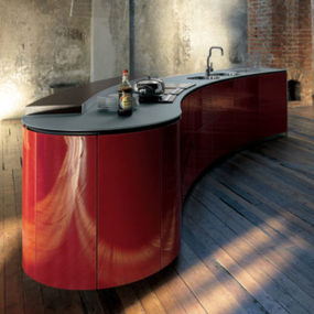 Poetic Kitchen Alessi from Valcucine – Lacucina Alessi encompasses dynamic flowing lines