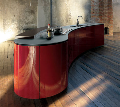 valcucine kitchen alessi 1 Poetic Kitchen Alessi from Valcucine   Lacucina Alessi encompasses dynamic flowing lines