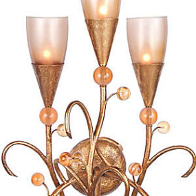 Van Teal Drizzle Wall Sconce and Harvest Nights Chandelier – the Giardino Collection lighting