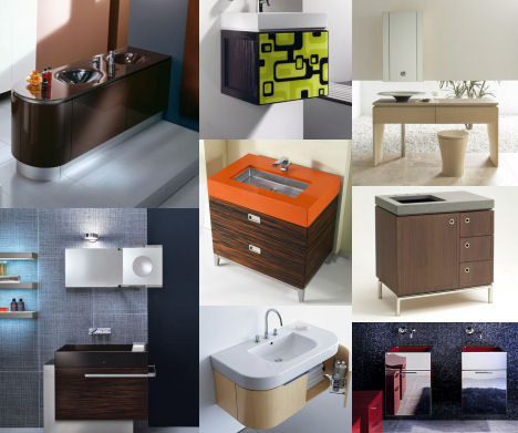 vanity trend Bathroom Vanities Trend 2007   the European Contemporary vanity style is in!