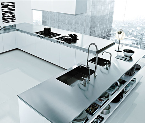 Italian Kitchen Design by Poliform Matrix Varenna modern kitchens