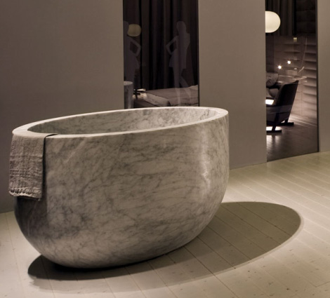 Deep Soaking Tubs - marble tubs by Vaselli