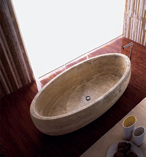 vaselli marmi travertine bathtubs boat Travertine Bathtubs by Vaselli Marmi   Beach, Boat and Sailing natural stone bathtubs
