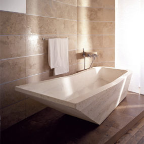 Travertine Bathtubs by Vaselli Marmi – Beach, Boat and Sailing natural stone bathtubs