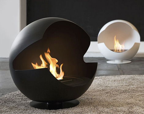 vauni fireplace globe 1 Cool Fireplaces   really cool fireplace ideas by Vauni