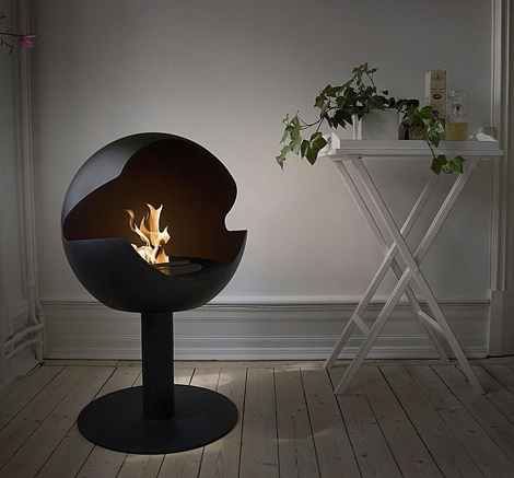vauni fireplace globe 2 Cool Fireplaces   really cool fireplace ideas by Vauni