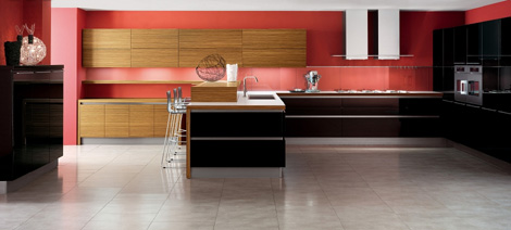 Zebrano Wood Kitchen by Veneta Cucine - Oyster kitchen
