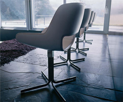 versatile contemporary chair four spoke base enrico pellizzoni 1