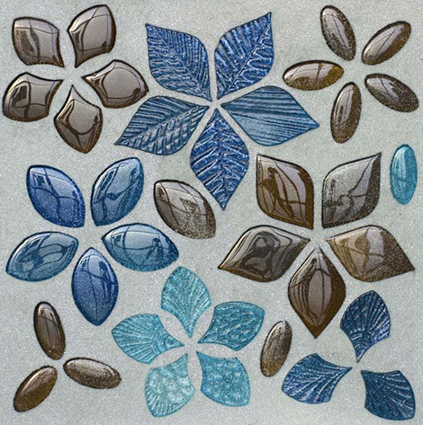 vetrovivo mosaic foglie fantasia mix crystal Modern Mosaic Tiles by Vetrovivo   Amazingly Unique and Creative