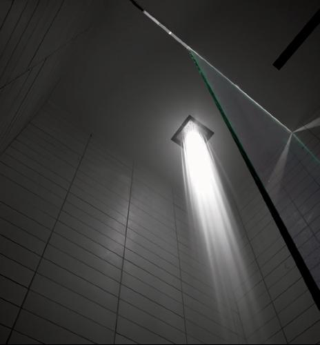 viabizzuno cubo doccia lighted shower Viabizzuno Lighted Shower Head   Cubo Doccia from PS Craftsmanship (PSC)