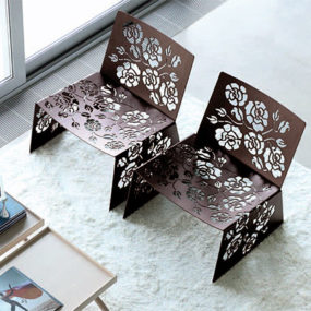 Modern Feminine Furniture by Vibieffe – 'Roses' Chairs, Tables and Lamps