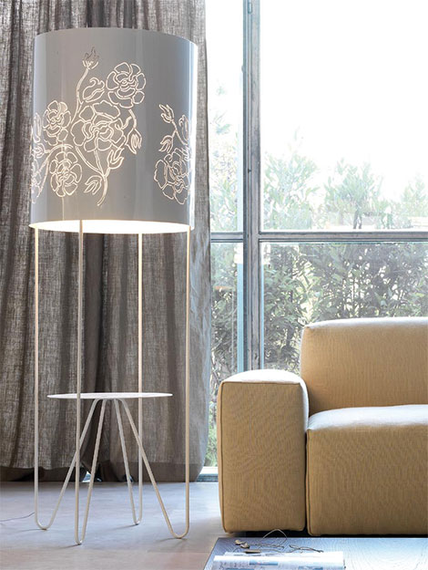 vibieffe roses floor lamp Modern Feminine Furniture by Vibieffe   Roses Chairs, Tables and Lamps