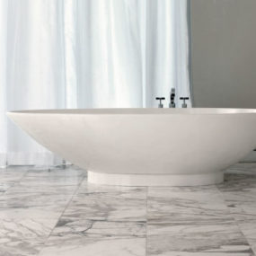 Contemporary tub from Victoria & Albert – the new egg shaped Napoli tub