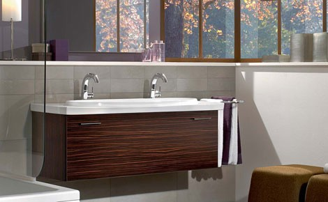 villeroy boch washbasin loop 1 Two Person Sink   new sexy washbasin Loop by Villeroy & Boch makes you share one drain
