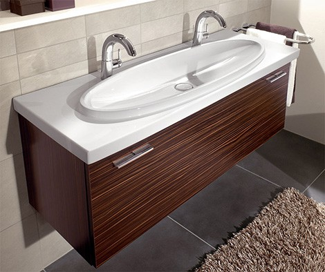 villeroy boch washbasin loop Two Person Sink   new sexy washbasin Loop by Villeroy & Boch makes you share one drain