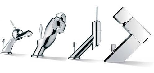 visentin faucets domo style free klino Visentin Spheratech bathroom taps   unusual faucets from Italy