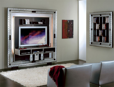 vismaraartdecocentr TV Media Center in a frame   Art Deco & Baroque centers by Vismara Design
