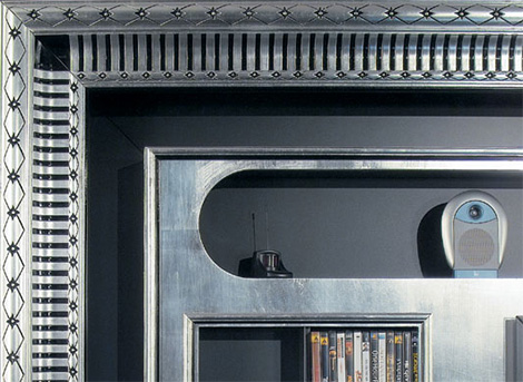 vismaraartdecocentr1 TV Media Center in a frame   Art Deco & Baroque centers by Vismara Design