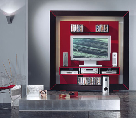 vismaramodern Modern Entertainment Center in a frame from Vismara Design   luxury high end TV stand