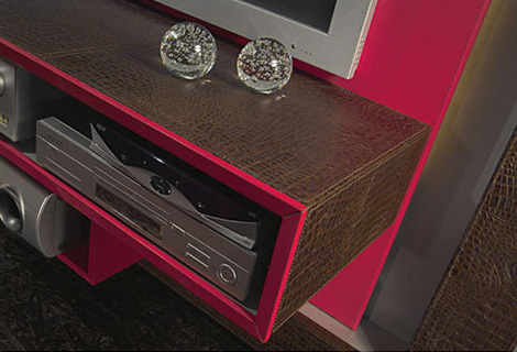 vismaramodern1 Modern Entertainment Center in a frame from Vismara Design   luxury high end TV stand