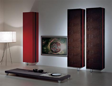 vismarascrignocenr Luxury Entertainment Center from Vismara   leather upholstered wall units