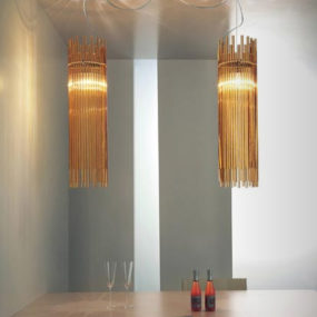 Glass Ceiling Lamp from Vistosi – Diadema lighting fixtures