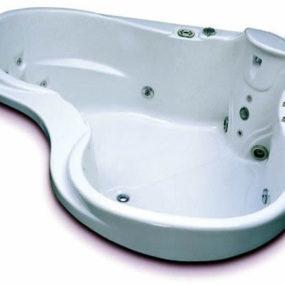 Heart-shaped whirlpool bath from Vita Bath – Le Magnifique therapeutic corner whirlpool