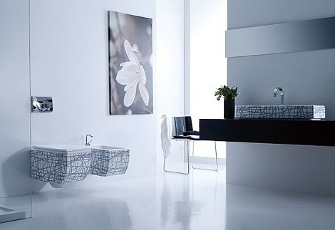 vitruvit bathroom olympic 2 New Bathroom Suite from Vitruvit – Olympic has Asymmetric Appeal