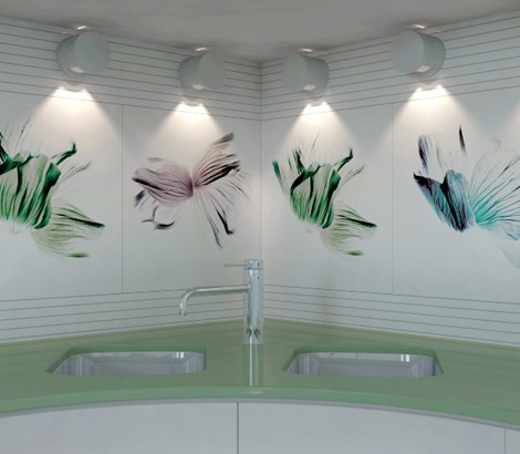 viva ceramica tiles coloured flowers 3