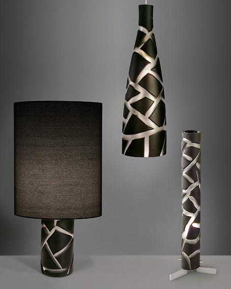 Modern Murano Glass Lamp from Formia – Vivarini animal look lamps Giraffe and Zebra