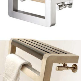 Towel rails from Vogue – Plato and Dyno shelf towel rails