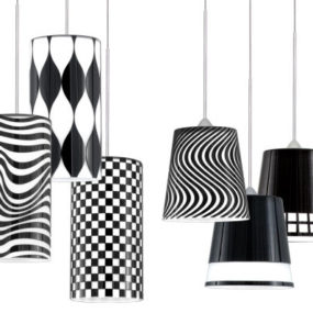 Black & White Quick Connect pendants from W.A.C. Lighting – cut-glass pendants