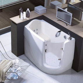 Walk-In Tubs – compact sit-down tub by Treesse