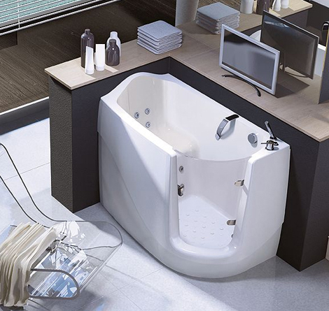 Walk In Tubs Compact Sit Down Tub By Treesse