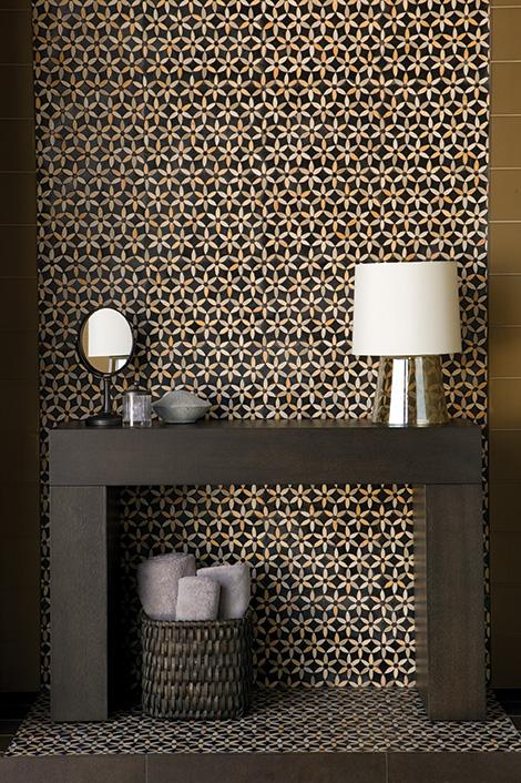 Walker Zanger Sonja La Fluer Tile Mosaics – modern tile design inspired by Roman
