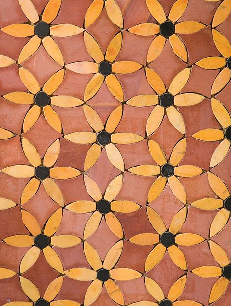 walker zanger sonja la fluer mosaic red Walker Zanger Sonja La Fluer Tile Mosaics   modern tile design inspired by Roman