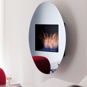 Wall Hanging Ethanol Fireplace OVO by Ozzio