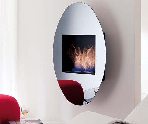 wall hanging bio freplace ovo ozzio 1 Wall Hanging Ethanol Fireplace OVO by Ozzio