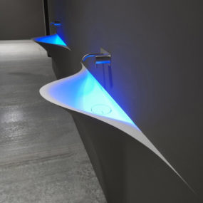 Wall Integrated Wash Basin by Antonio Lupi – Silence