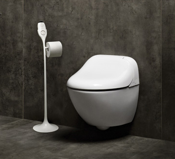 wall mount washlet toilet toto giovannoni 1 Wall Mount Washlet Toilet by Toto   new modern Giovannoni with remote control