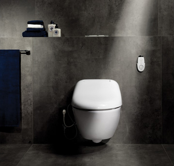 wall mount washlet toilet toto giovannoni 2 Wall Mount Washlet Toilet by Toto   new modern Giovannoni with remote control