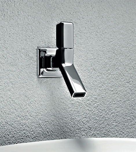 wall mounted faucet faraway zucchetti Timeless Chrome Faucets by Zucchetti Kos Faraway Bathroom Collection