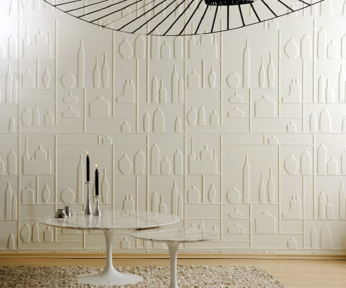 wallpaper with 3d effect thermoformed elitis 1 Wallpaper with 3D Effect   thermoformed wallpapers by Elitis